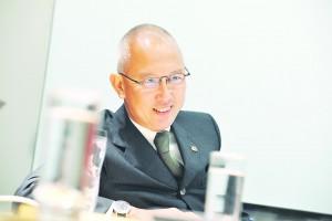 財星訪問: 德勤合夥人蔡永忠 2012年1月4日 葉漢華攝