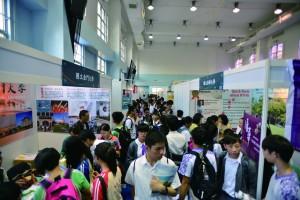 「台灣高等教育展」共有79所台灣院校來港參展,首日吸引逾3,500人到場。