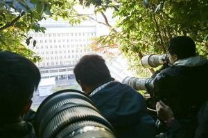圖為阿東跟其他行家攝記拍攝許仕仁於荔枝角收容所之情況。