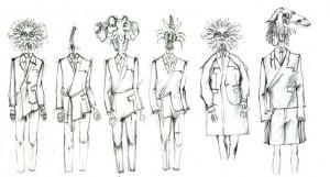 Octo鑽研設計書籍力求進步。圖為倫敦時裝周,以「煉金術」為題的服裝設計草圖。