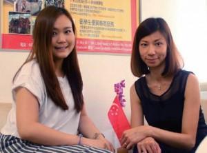 惠茵(左)與SGreat 新加坡留學代理負責人(右)合照。