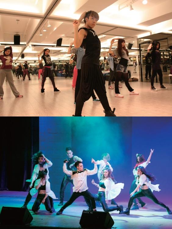熱愛舞蹈的Dave多線發展,同時參與舞蹈教學(上)及表演(下) 的工作。