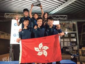 港隊去年10月出戰Techno293世界賽,阿Wing(後排中)以13歲之齡越級稱霸女子U15組別。(資料圖片)
