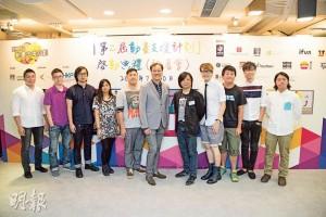 參加「動畫支援計劃」——簡耀宗(右四)曾是香港特別行政區政府「創意香港」贊助之「動畫支援計劃」受培育的初創者。(圖﹕受訪者提供)