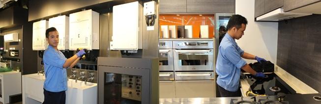 阿霖現負責工商業維修服務,要到各類型的工商機構的廚房、機組房間、蒸氣鍋爐房間工作,也要搬動大型爐具,消耗不少體力。