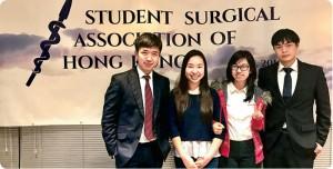 讀醫不是死讀書,Tommy(左)與同學也會參加醫學相關的活動,跟其他醫科生交流。(相片由受訪者提供