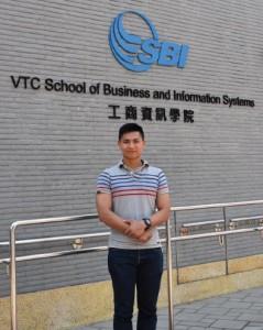 姚永坤透過紀律部隊課程達至理想,他也曾透過講座分享自己的經歷予中學師弟,希望為他們的出路提供多一個選擇。