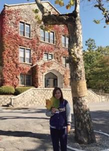 Irena於韓國完成語學堂課程後考獲T O P I K五級的成績,並成功入讀延世大學傳理學系。(圖片由受訪者 提供)
