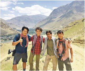 梁彥宗(左二)曾因拍攝《背遊》系列節目,有機會到訪阿富汗。