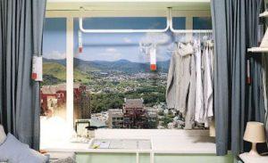 窗台上的晾衫架,示範如何善用空間同時保持家居雅致。